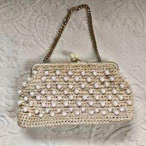 vintage beaded bag . midcentury . Walborg